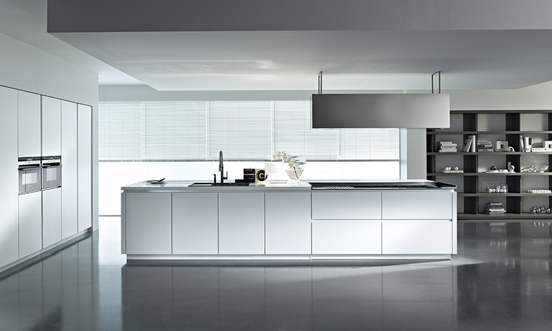 Lacquered Cabinets Kitchen white-and-black-lacquer-kitchen.jpg ...