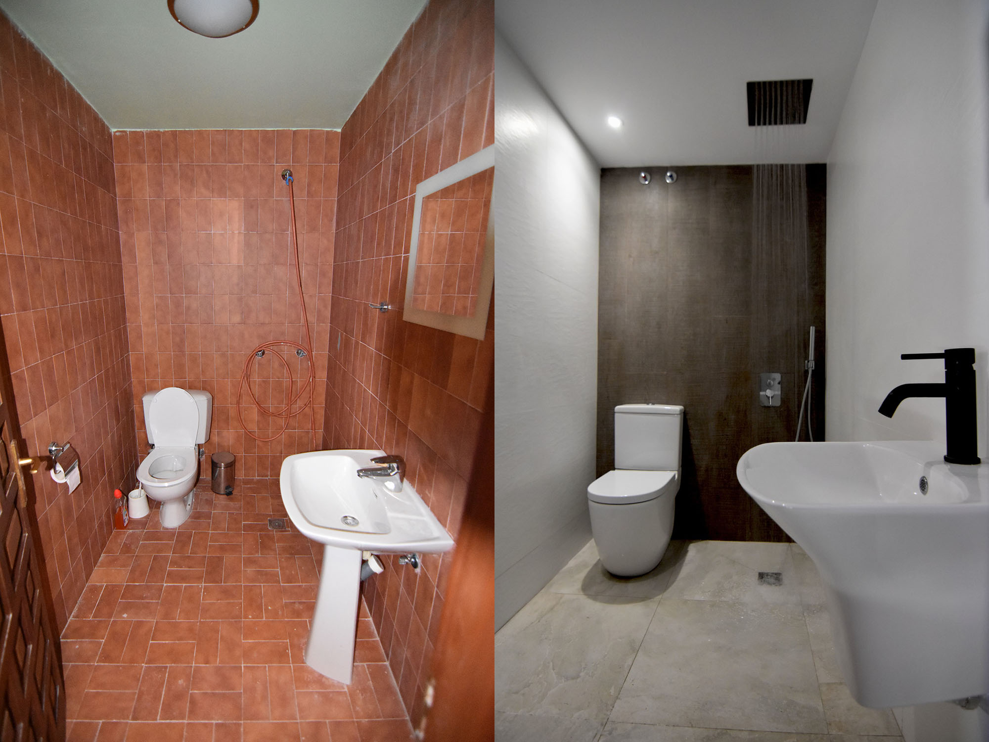spa bathroom before after